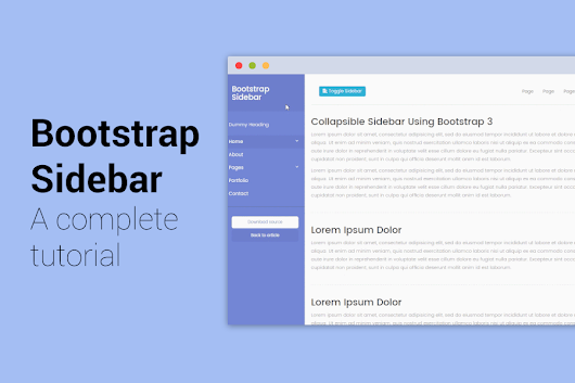 Bootstrap Sidebar - A complete tutorial with 5 different sidebar templates.