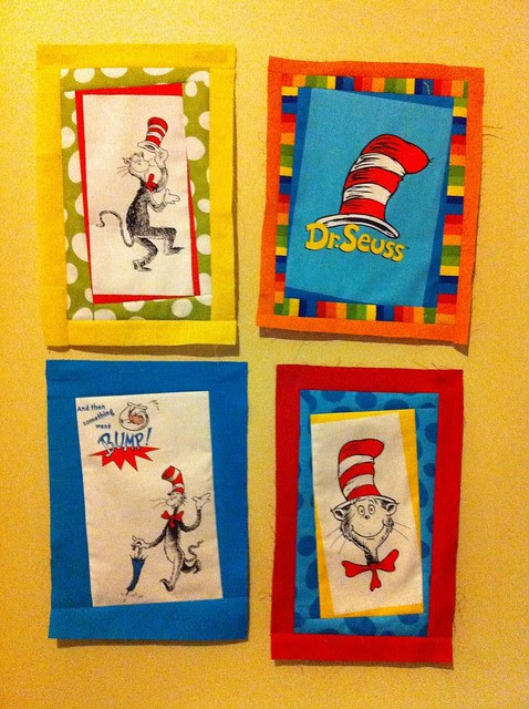 Wonky Seuss quilt in progress