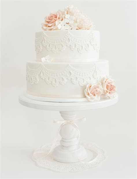 Lace cakes, Peonies and Roses on Pinterest