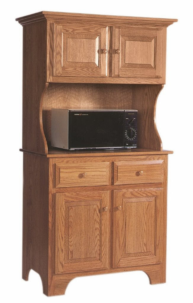 Microwave Cabinet with Hutch : 390-MICRHUT55-22 : Wood ...