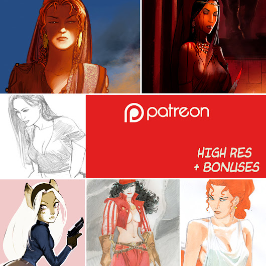 Récompenses sur Patreon – Kunoichi webcomic