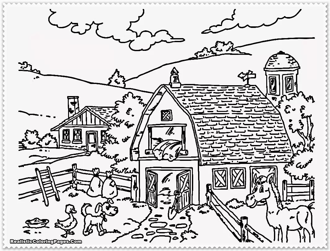 Farm Animals Coloring Book pg 5 | Flickr Photo Sharing! - Coloring ...