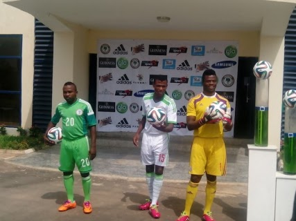 Nigeria Football Federation Unveils World Cup Jersey For Brazil 2014