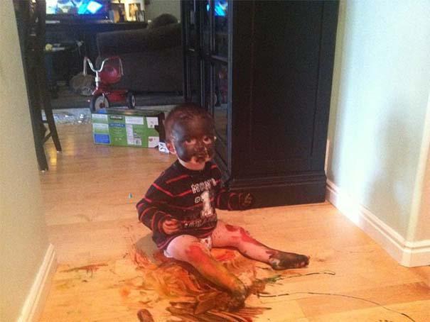 Αυτά συμβαίνουν όταν αφήσεις τα παιδιά μόνα τους για 1 λεπτό (9)