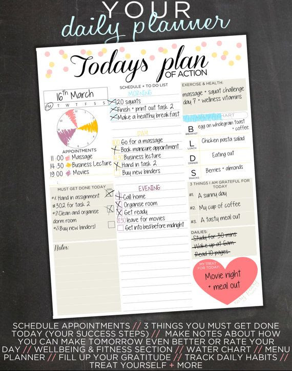 1000+ ideas about Cute Daily Planner on Pinterest   Daily planning ...