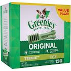 Greenies Original Teenie Dental Dog Treats - 130 count, 36 oz box