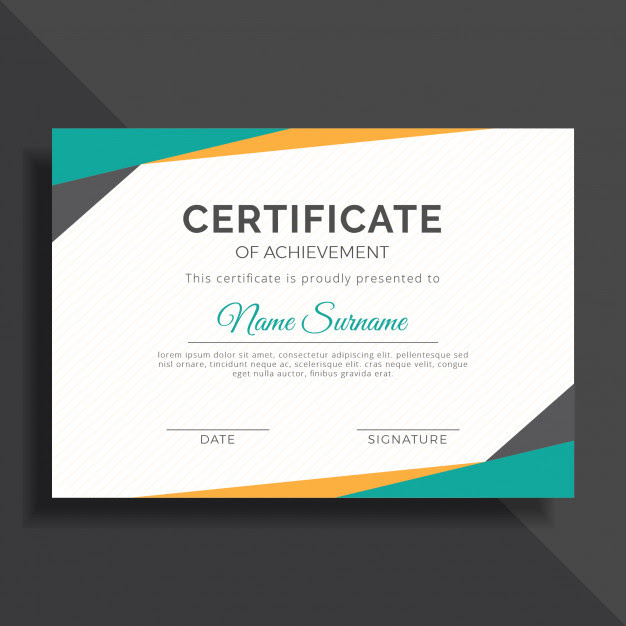 modern geometric certificate template design certificate templates modern pdf doc word