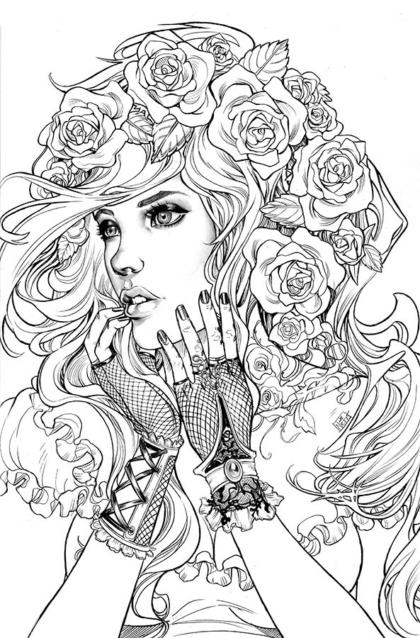 Free Printable Mermaid Coloring Pages For Adults Coloring And Drawing