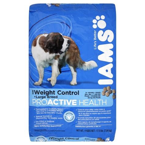 iams proactive health dry dog food weight control large