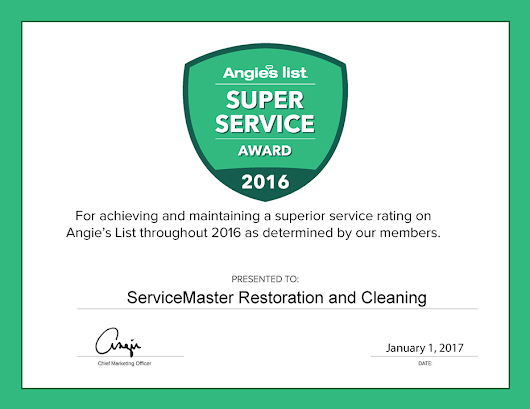 ServiceMaster in Houston Receives Angie's List Super Service Award 2016