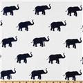 Thermal Knit Elephants White/Navy