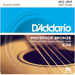 D'Addario EJ16 Phosphor Bronze Acoustic Guitar Strings, Light Gauge