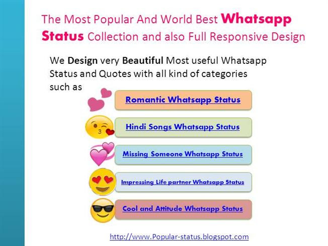 Widely Used Whatsapp Status And Quotes With All Categories Authorstream
