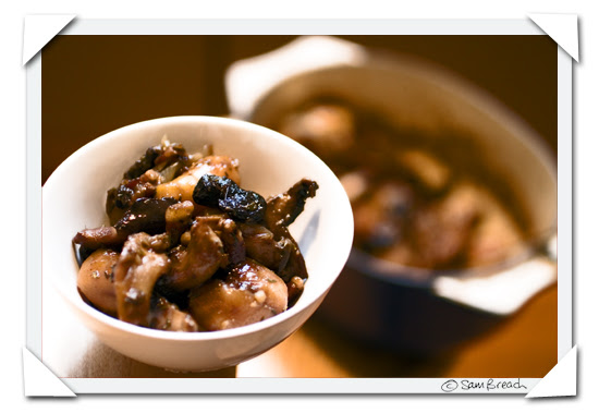 picture photograph image potato stew with mushrooms and bacon and olives and onion 2008 copyright of sam breach http://becksposhnosh.blogspot.com/