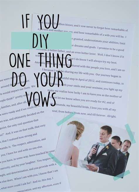 How to write your own wedding vows   Unique Wedding Ideas