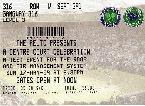 Wimbledon Roof Ticket