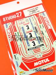Studio27: Calcas escala 1/24 - BMW M1 Motul Nº 3 - Bernard Béguin - Rally Tour de Corse 1983 - para kit de Esci y Revell REV07247
