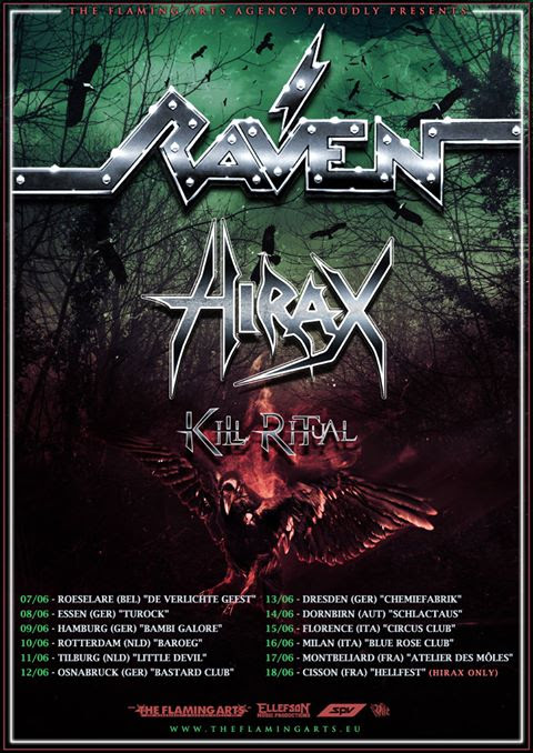 HIRAX Prepares To Ravage Europe w/RAVEN & KILL RITUAL [Tour Video Teaser]; To Support SACRED REICH / BYZANTINE In Sept.