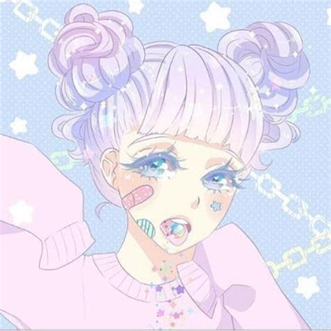 profile pic anime aesthetic pastel goth kawaii
