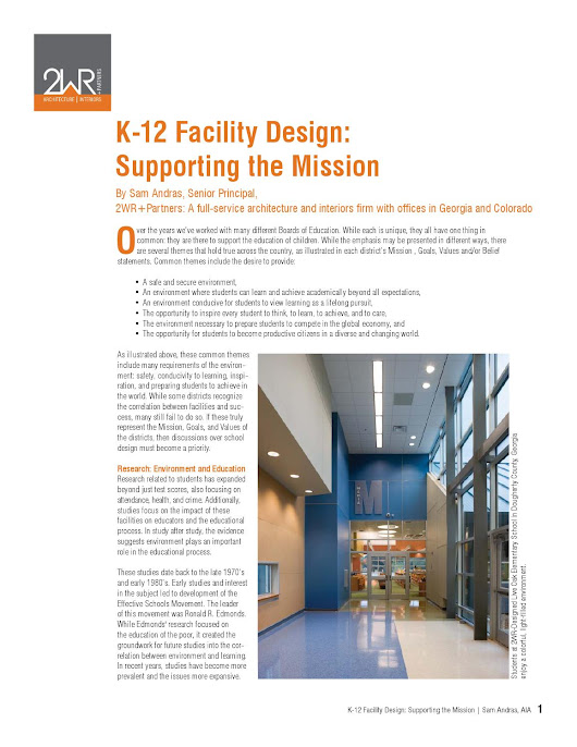 K-12 Facility Design: Supporting the Mission