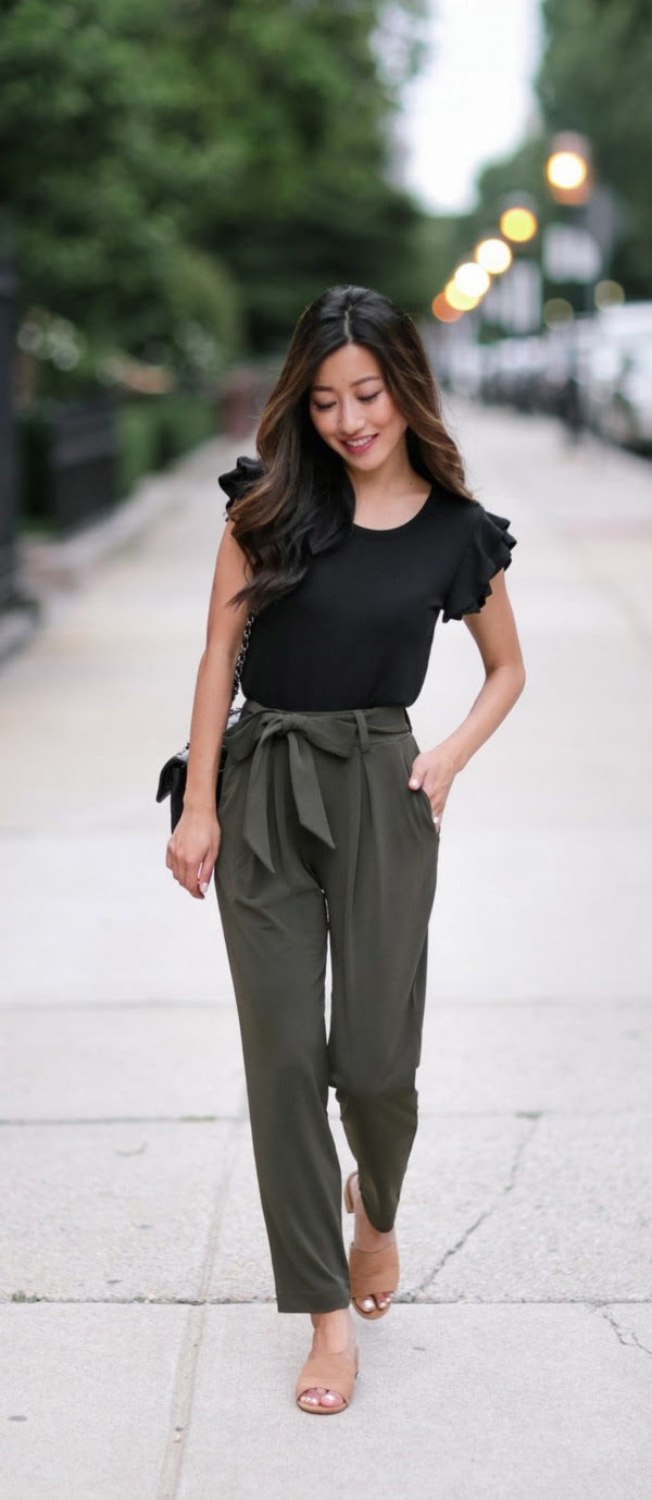30 stylish ways to wear paper bag pants for work