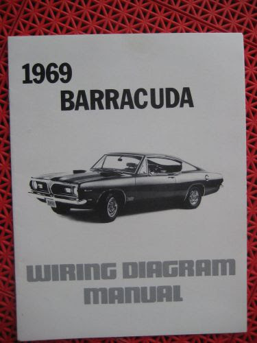 Find 1969 Plymouth Barracuda Wiring Diagram Manual Motorcycle In Venice Florida United States For Us 11 50