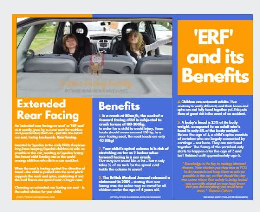 Rear Facing and Its Benefits! Information Trifold Brochure Download (PDF) - A Rear Facing Family