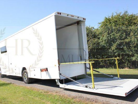 Mercedes 18T Race transporter 2500kg Dhollandia, RaceOffice & slide out in Trailers & Transporters for sale at Raced & Rallied