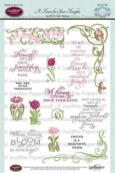 A Flower for Your Thoughts Clear Stamps