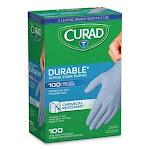 Curad Powder-Free Nitrile Exam Gloves, One Size, Blue, 100/Box (MIICUR4145R)