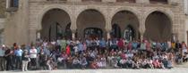 """Bailando por las Plazas de Badajoz con los """"Coros y Danzas"""""""