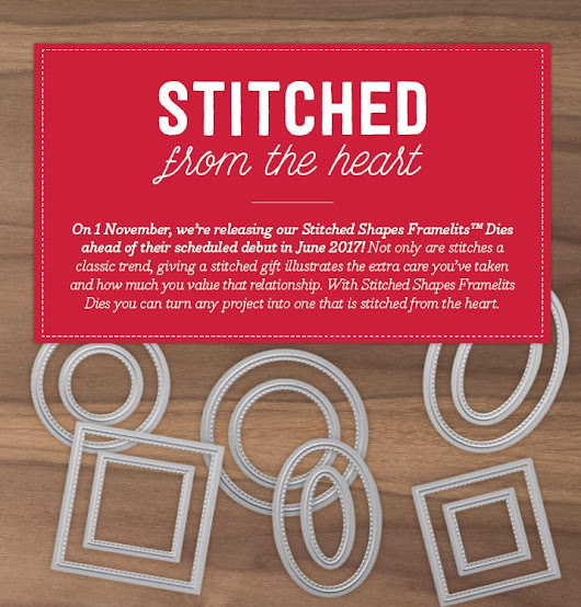 Stitched Shapes Framelits - NEW from Stampin' Up! - with Michelle Last