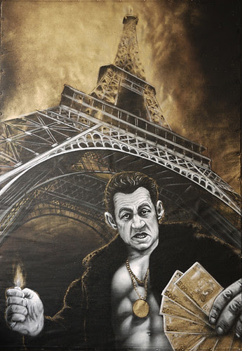 DOUCE FRANCE : some dust under the carpet                       (unfinished painting) by MTO (Graffiti Street art)