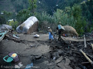 Earthquake-hit village in northern Pakistan