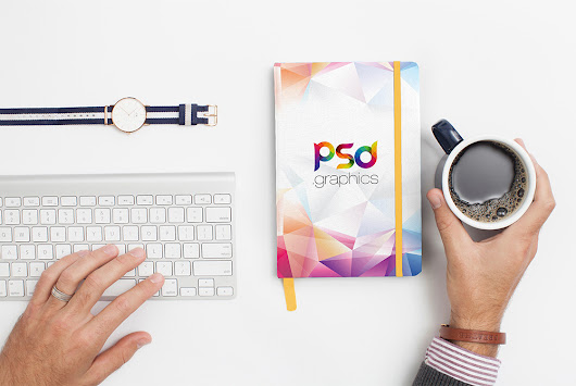 Notebook Cover Mockup Free PSD | PSD Graphics