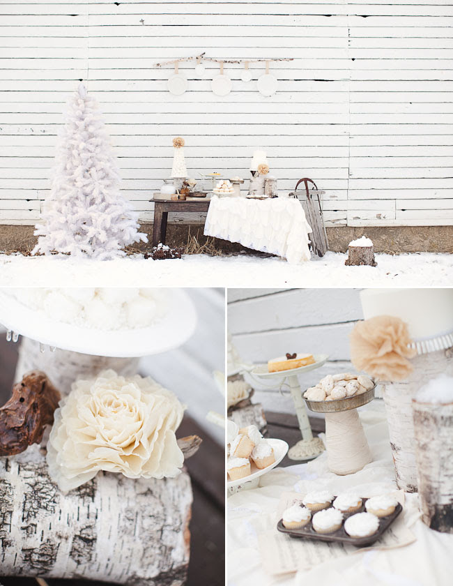 Outdoor Whimsical Winter Wedding Inspiration | Green Wedding Shoes ...