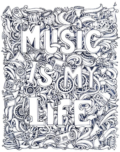 Art Therapy coloring page Music 12