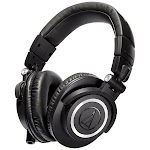 Audio-Technica ATH-M50x Professional Monitor Headphones - Stereo - Black - Wired - 38 Ohm - 15 Hz 28 kHz - Over-the-head - Binaural - Circumaural