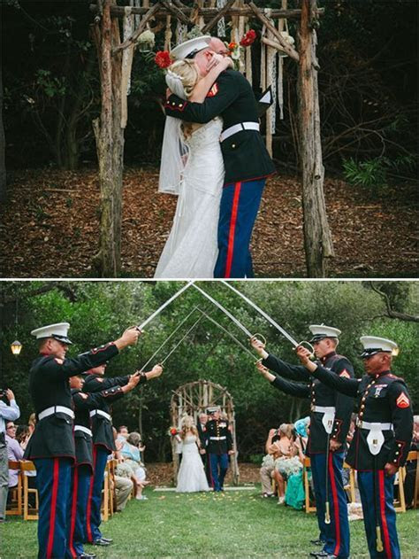 Rustic Military Wedding   Military Ceremony   Wedding