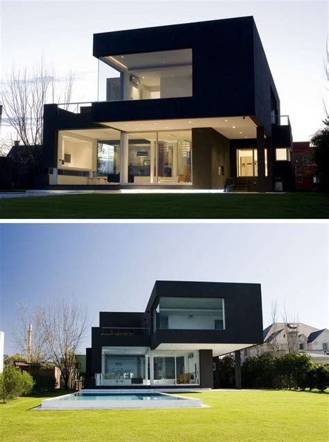 house exterior colors  modern black houses