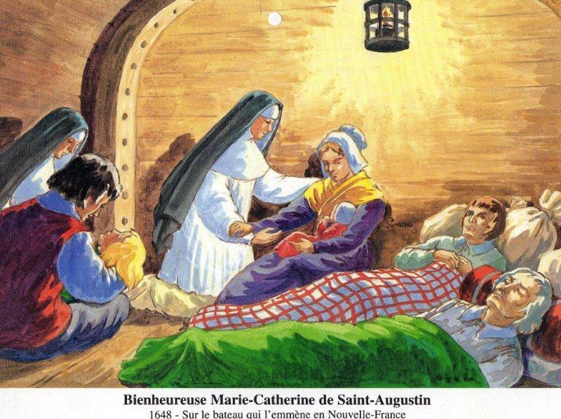 Catherine de Saint-Augustin arrives