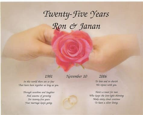 Quotes about Silver wedding anniversary (21 quotes)