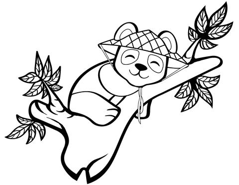 Disegno Di Panda Carino Sullalbero Da Colorare Disegni Da