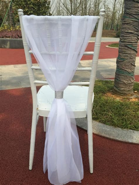 2016 bamboo white blue chair sash chair decoration for