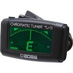 BOSS TU-01 - Clip-on tuner for guitar, bass guitar, ukulele - bass/chromatic/guitar/ukulele