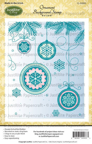 Ornament Cling Background Stamp