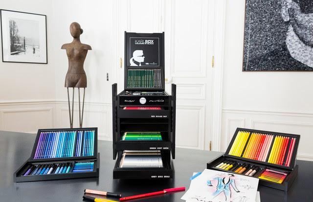 Kit de Karl Lagerfeld com a Faber-Castell (Foto: Divulgação)