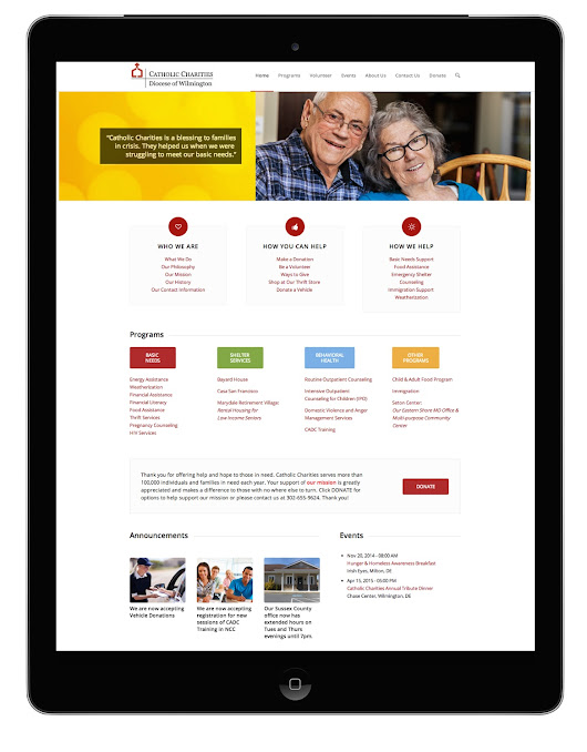Catholic Charities of the Diocese of Wilmington - Website Design | Online Marketing