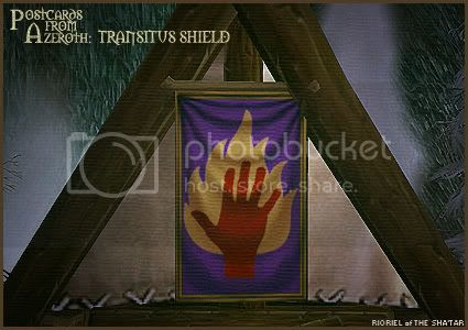 Postcards from Azeroth: Transitus Shield, by Rioriel Whitefeather