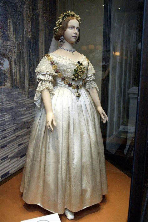 The wedding dress of Queen Victoria, as it was put on